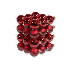 Glasskuler - D6 cm - shiny/matt red - Glass