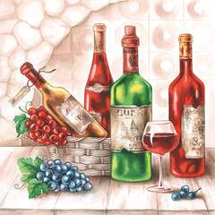 Napkin 25 Wine Cellar FSC Mix