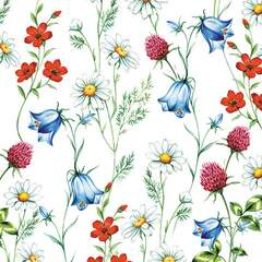 Napkin 25 Mixed Wild Flowers White