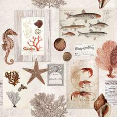 Napkin 25 Sepia Sea Cream