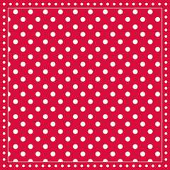Napkin 25 Stripes Dots Red FSC Mix