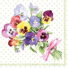 Napkin 25 Bunch of Violets Green FSC Mix