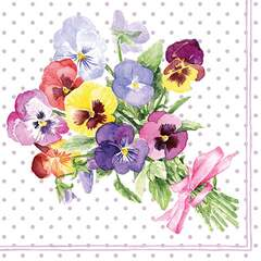 Napkin 25 Bunch of Violets Berry FSC Mix