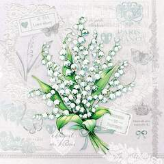 Napkin 25 Lily of the Valley #