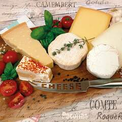 Napkin 25 Palette of Cheeses FSC Mix