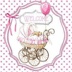 Napkin 25 Welcome pink