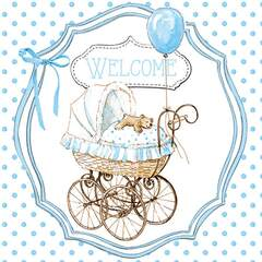 Napkin 25 Welcome blue