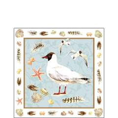 Napkin 25 Black Headed Gull Blue