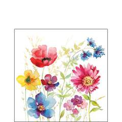 Napkin 25 Aquarell Meadow