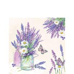 Napkin 25 Lavender Jar Cream