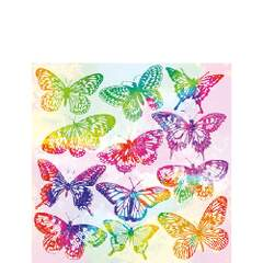 Napkin 25 Aquarell Butterflies Mix