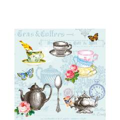 Napkin 25 Tea Mix Blue