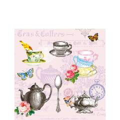 Napkin 25 Tea Mix Rose