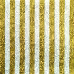 Napkin 33 Elegance Stripes Gold/White FSC Mix