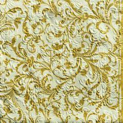 Napkin 33 Elegance Damask Cr/Gold SE: 12