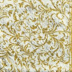 Napkin 33 Elegance Damask White/Gold
