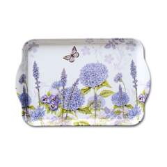 Tray Melamine 13X21Cm Purple Wildflowers SE: 6