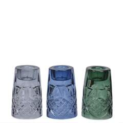 Lysestake glass m/3 H8 `krystall`grey/blue/green SE:24