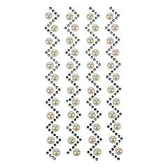 Strass stickers -  - white - Plast