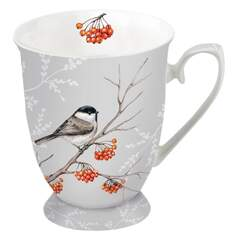 Mug 0.25 L Bird On Branch Grey