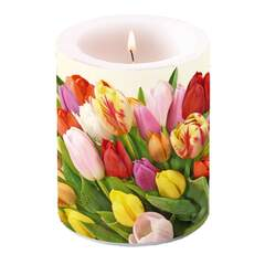 Candle Big Colourful Tulips SE: 6