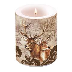Candle Big Deer Couple Brown SE: 6