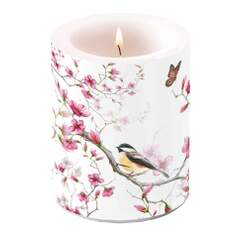 Candle Big Bird & Blossom White