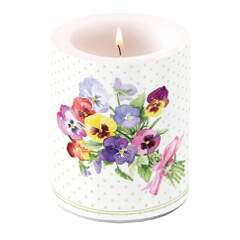Candle Big Bunch of Violets Green
