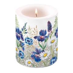 Candle Big Mixed Meadow Flowers