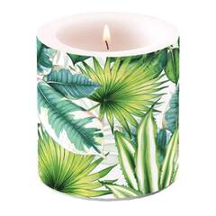 Candle Small Tropical Leaves
