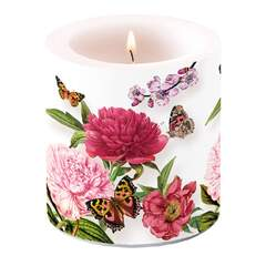Candle Small Peonien White
