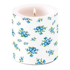 Candle Small Forget Me Not