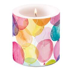 Candle Small Aquarell Balloons