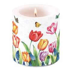 Candle Small Tulips & Muscari