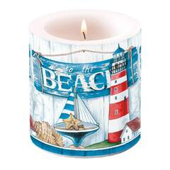 Candle Small To The Beach