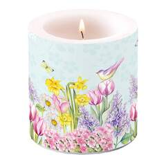 Candle Small Blooming Garden Turquoise