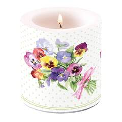 Candle Small Bunch of Violets Green