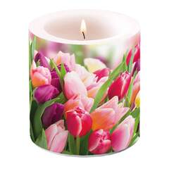Candle Small Glorious Tulips