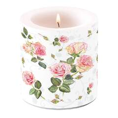 Candle Small Rosie White