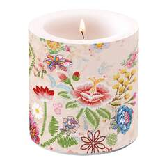 Candle Small Embroidery Flowers Rose
