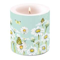 Candle Small Daisy Green