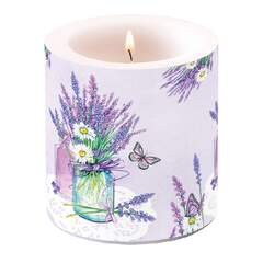 Candle Small Lavender Jar Lilac