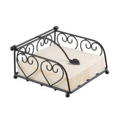 Napkin Holder Heart Small Black SE: 4