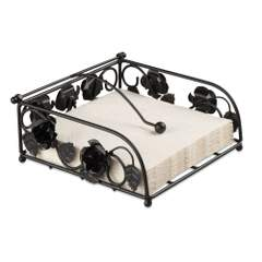 Napkin Holder Rose Big Black SE: 4