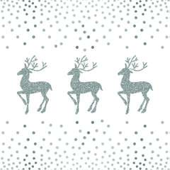 Napkin 33 Deer And Dots White