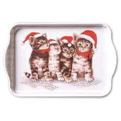 Tray Melamine 13X21cm Singing Cats SE: 6
