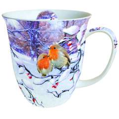 Mug 0.4 L Robins On Branch