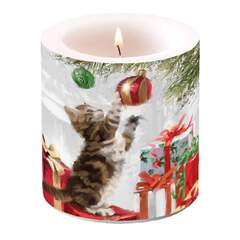 Candle Small Kitten And Bauble
