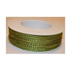 Satinsnor 2mm lime 50m